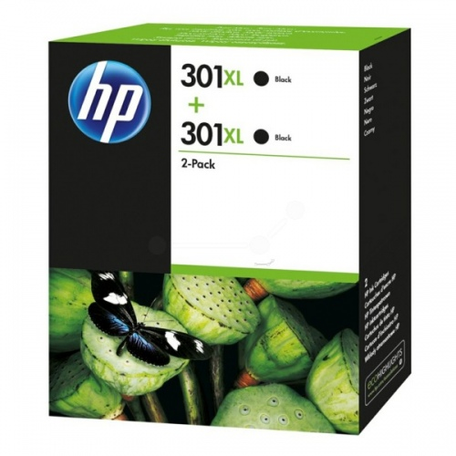 HP Ink No.301XL Black Dual Pack (D8J45AE)