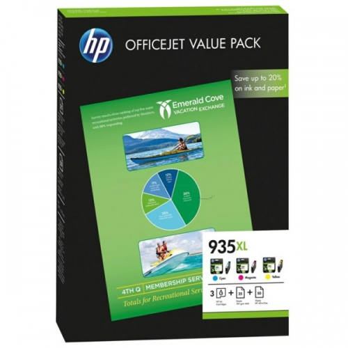 HP Ink No.935XL CMY HC (F6U78AE)