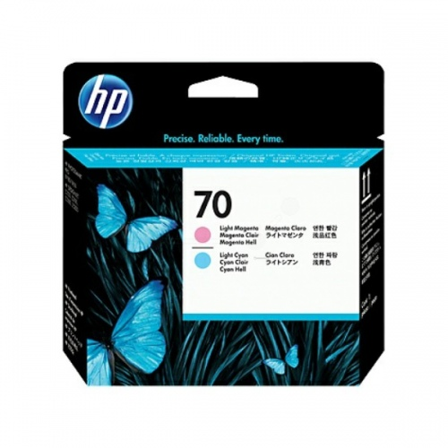 HP Printhead No.70 Light Cyan + Light Magenta (C9405A)