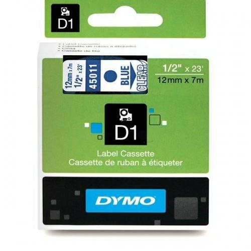 Dymo Schriftband Clear/Blue 45011 (S0720510)