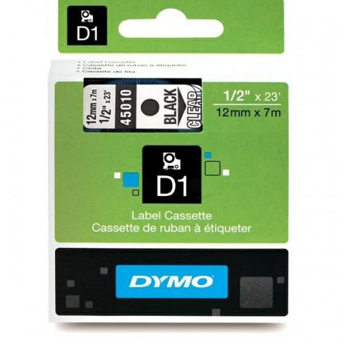 Dymo Schriftband 45010 Clear/Black (S0720500)