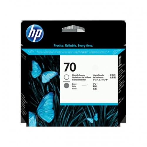 HP Printhead No.70 Gray + Gloss Enhancer (C9410A)
