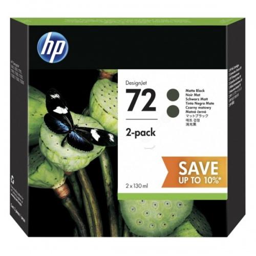 HP Ink No.72 Twin Pack Matte-Black HC (P2V33A) 130ml