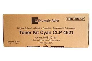 Triumph Adler Toner CLP 4521/ Utax Toner CLP 3521 Cyan (4452110111/ 4452110011)