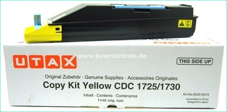 Triumph Adler Copy Kit DDC 2725 12k/ Utax Toner CDC 1725 Yellow (652510116/ 652510016)
