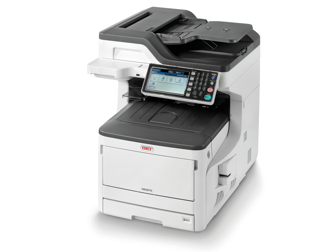 New laser printer, color, OKI MC873dn