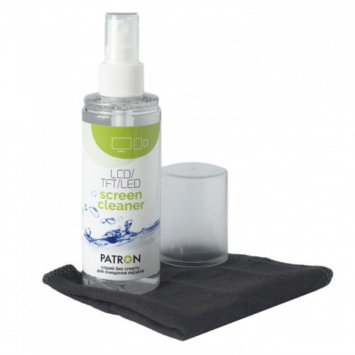 Alcohol-free screen cleaning set 2in1 120 ml spray + napkin