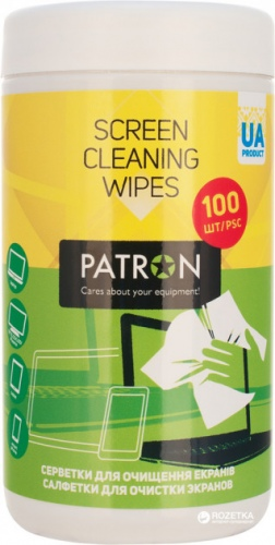 Screen cleaning wipes PATRON, 100pcs