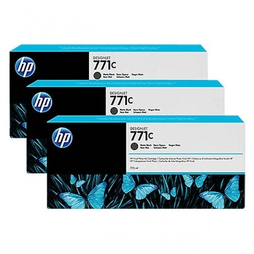 HP 771C 3-pack 775-ml Matte Black DesignJet Ink Cartridges (B6Y31A)