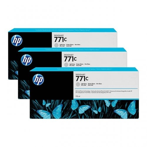 HP 771C 3-pack 775-ml Light Gray DesignJet Ink Cartridges (B6Y38A)
