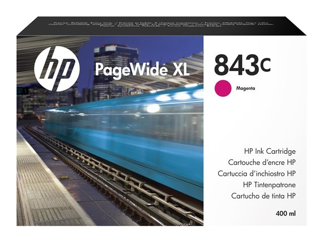 HP 843C 400-ml Magenta PageWide XL Ink Cartridge (C1Q67A)