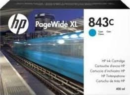HP 843C 400-ml Cyan PageWide XL Ink Cartridge (C1Q66A)