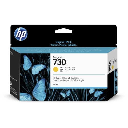 HP 730 130-ml Yellow DesignJet Ink Cartridge (P2V64A)