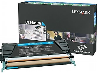Lexmark Cartridge Cyan (C734A1CG) Return