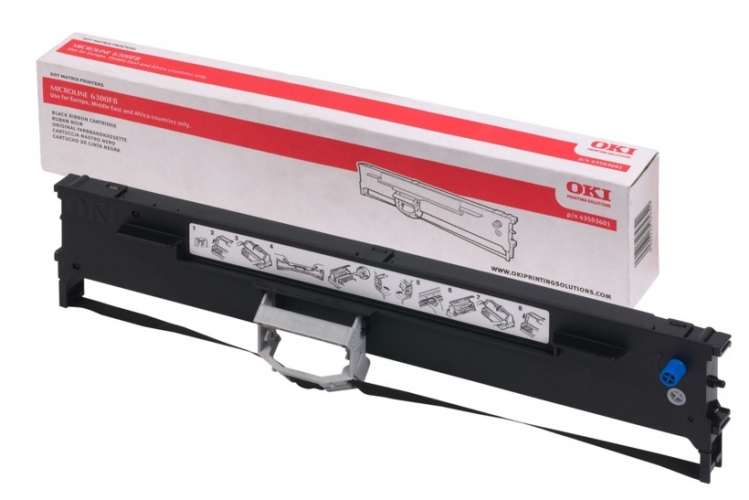 Oki printer ribbon black (43503601)