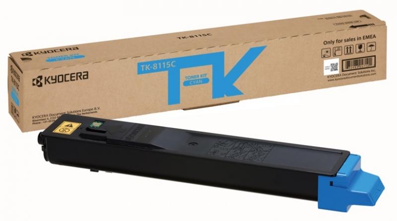 Kyocera toner cartridge cyan (1T02P3CNL0, TK8115C)