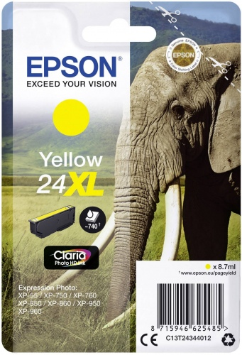 Epson Ink No.24 XL Yellow (C13T24344012)