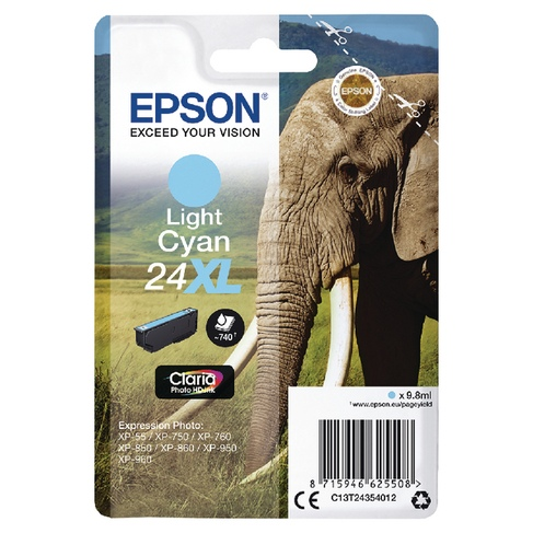 Epson Ink No.24 XL Light Cyan (C13T24354012)