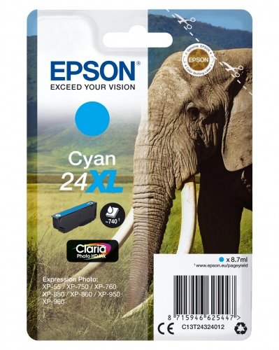 Epson Ink No.24 XL Cyan (C13T24324012)