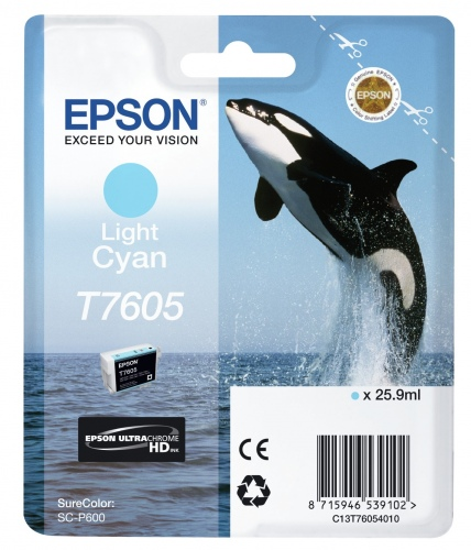 Epson Ink T7605 Cyan (C13T76054010)