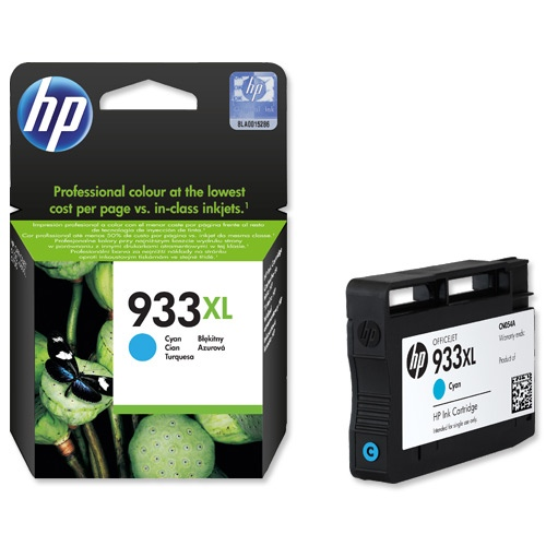 HP Ink No.933 XL Cyan (CN054AE)