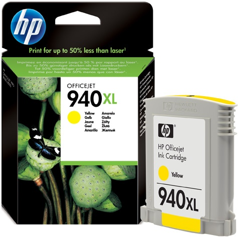 HP Ink No.940 XL Yellow (C4909AE)
