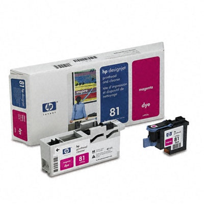 HP Printhead + Cleaner Magenta No.81 (C4952A)