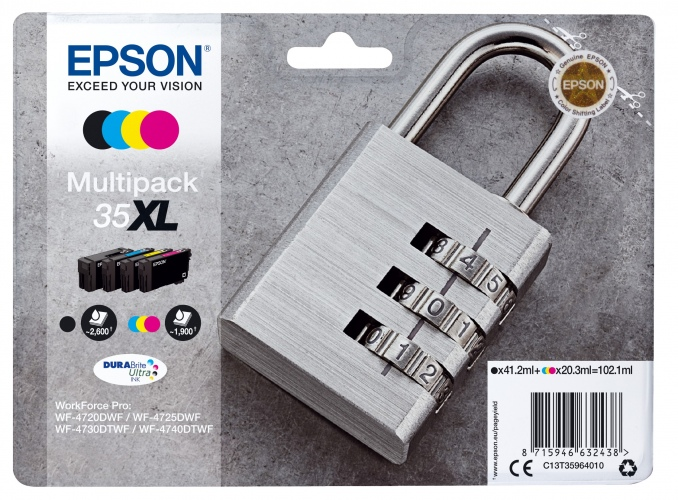 Epson Ink 4 Color Multipack No.35XL (C13T35964010)