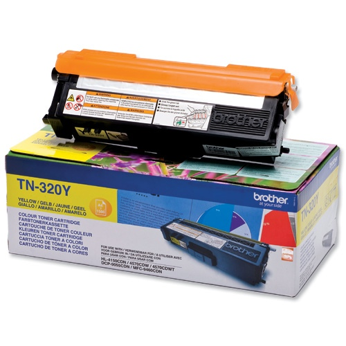 Brother Cartridge TN-320 Yellow 1,5k (TN320Y)