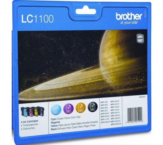 Brother ink set LC1100VALBP