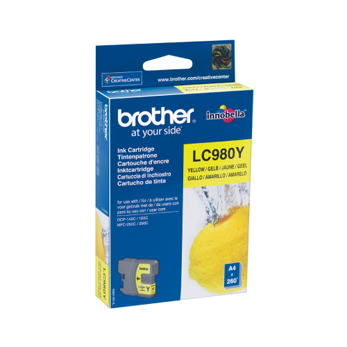 Brother Ink LC 980 Yellow (LC980Y)