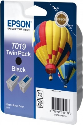 Epson T019 2vnt. (C13T01940210), juoda kasetė