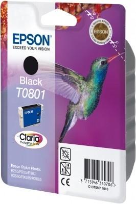 Epson T0801 (C13T08014011), juoda kasetė