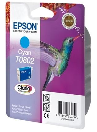 Epson T0802 (C13T08024011), žydra kasetė