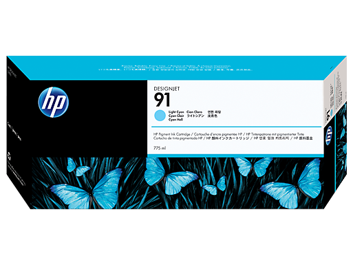 HP Ink No.91 Light Cyan (C9470A)
