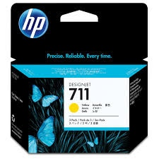 HP Ink No.711 Yellow tri-pack (CZ136A)