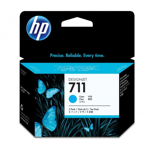 HP Ink No.711 Cyan tri-pack (CZ134A)