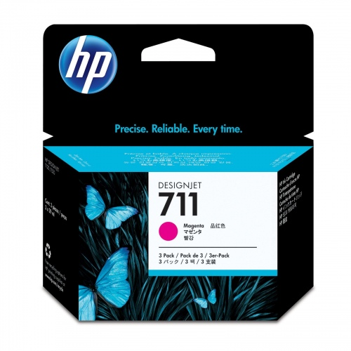 HP Ink No.711 Magenta tri-pack (CZ135A)