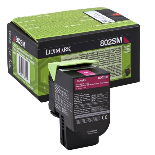 Lexmark Cartridge 802SM0 Magenta (80C2SM0)