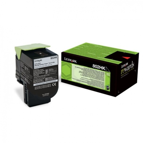 Lexmark Cartridge 802HK Black (80C2HK0) Return