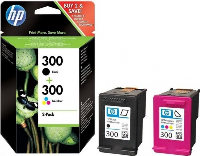 HP Ink No.300 Combopack Black / Tricolor (CN637EE)