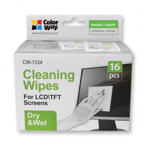 ColorWay Wet/Dry Wipes Set for Screen and Monitor Cleaning