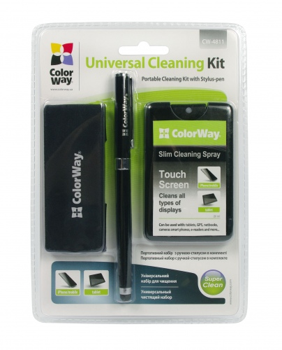 ColorWay cleaning kit with a stylus for Mobile and Tablets Devices