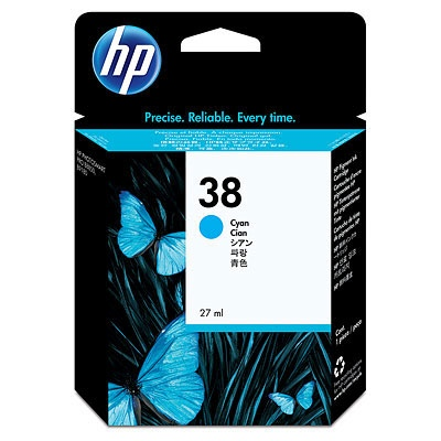 HP Ink No.38 Cyan (C9415A)