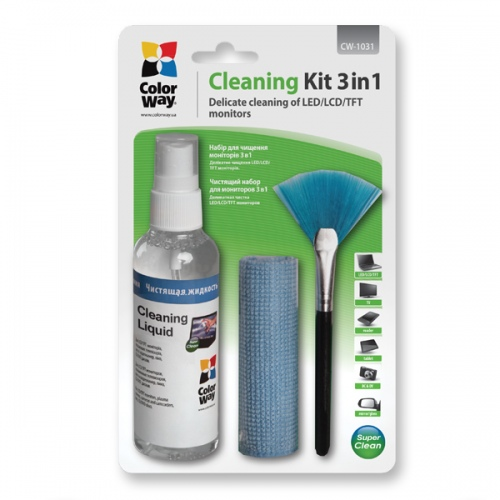 Set ColorWay 3 in 1 for the cleaning of laptops, monitors (CW-1031)