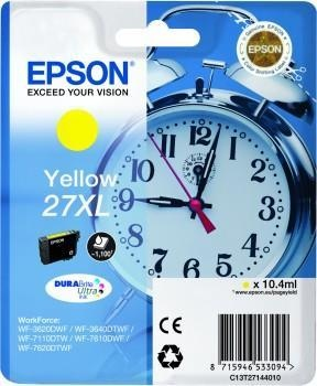 Epson Ink No.27XL Yellow (C13T27144012) 1,1k DURABrite Ultra 27XL
