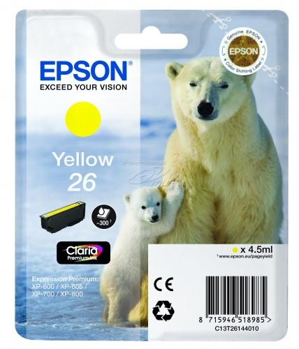 Epson T2614 (26) (C13T26144010), geltona kasetė