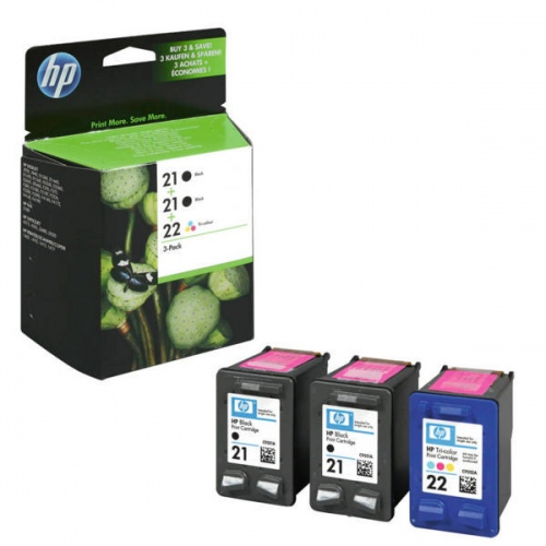 HP Ink 2 x No.21, 1 x No 22 Combo Pack (SD400AE)