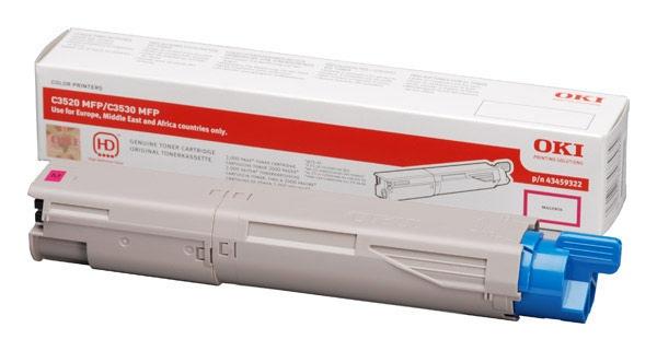 Oki Toner C 3520 Magenta 2,5k (43459370)