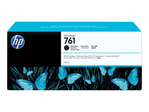 HP Ink No.761 Matt Schwarz (CM997A) 775ml